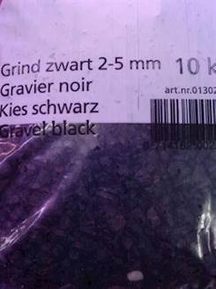 Grus sort 2-5mm 10kg