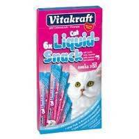 Vitakraft Cat Liquid-Snack med laks og Omega-3