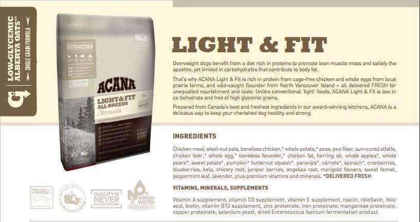 acana hundefoder light fit 11 4kg. Black Bedroom Furniture Sets. Home Design Ideas