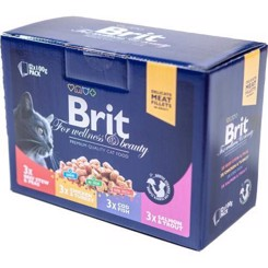 Brit Premium Cat Pouches Family plate 12x100g