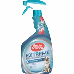 Extreme plet og lugtfjerner til hund - 945 ml - Simple Solution
