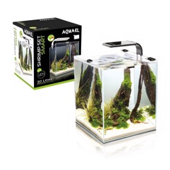 Nano smart akvarium 19 liter med LEDLys sort