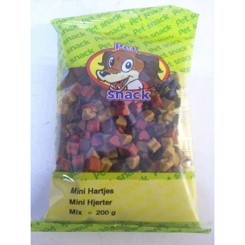 Petsnacks mini hjerter mix