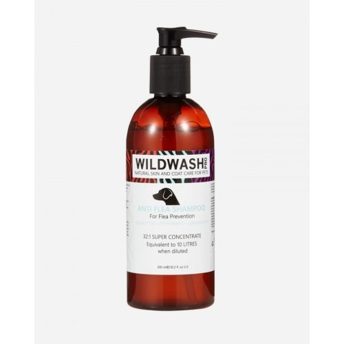 Wildwash shampoo Pro Anti flea 300 ml - blandingsforhold 32:1